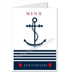 menu déco marin anniversaire