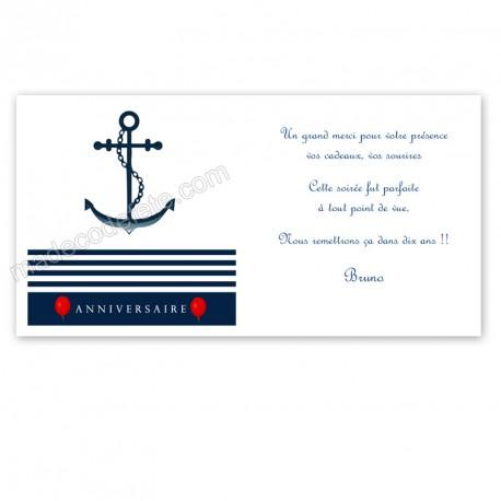 Remerciement anniversaire marin