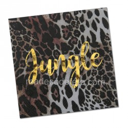 Serviettes jungle tropicale chic x 20
