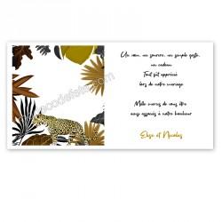Remerciement jungle léopard