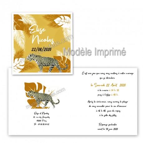 faire-part-tropical-leopard décorations jungle tropical chic dans Un thème déco ?