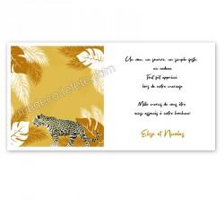 Remerciement tropical léopard