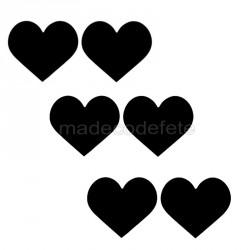 Etiquettes collantes coeur ardoise x 24