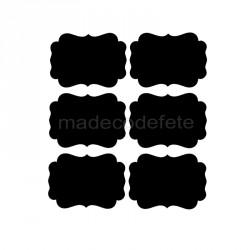 Etiquettes collantes ardoise x 12