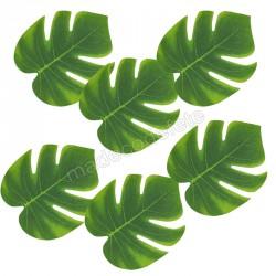 Feuilles tropicales 15 cm  x 6