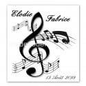 Faire-part notes de musique