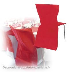 Housse de chaise jetable rouge