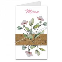 menu thème champêtre