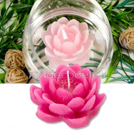 Bougie lotus fuchsia