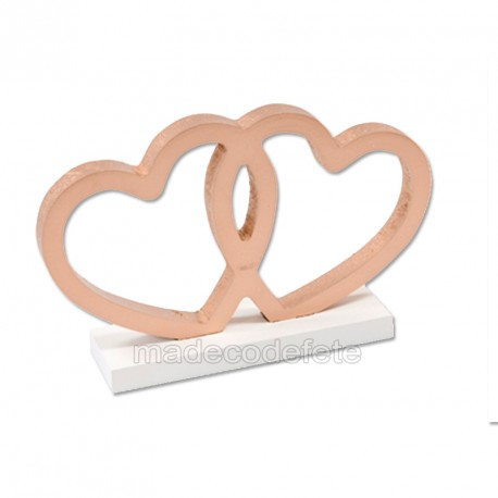 Duo coeur rose gold