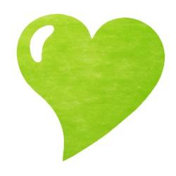 50 sets de table coeur vert anis