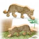 Décor léopard en bois