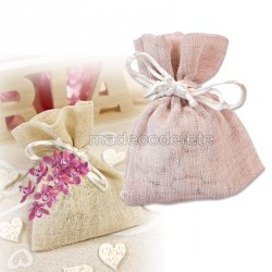 Sachet dragées pastel rose x4