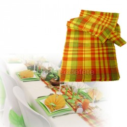 Chemin de table madras jaune