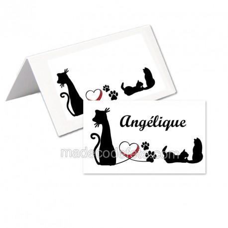 Porte-nom chats noirs (lot de 24)