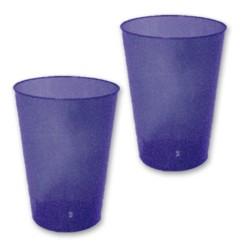 10 verres plastiques marine