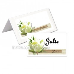 Porte-nom zen lotus blanc  (lot de 24)