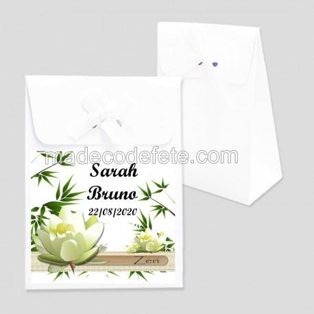 Boite à dragées lotus blanc