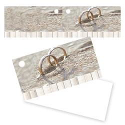 Etiquette dragées anneaux sable