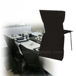 Housse de chaise jetable noire lot de 30