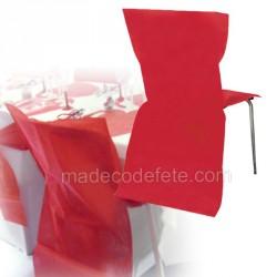 Lot de 30 housses rouge pour chaise