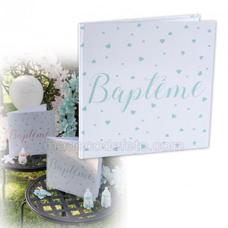 Livre d'or baptême jade
