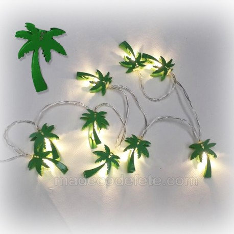 Guirlande led palmiers
