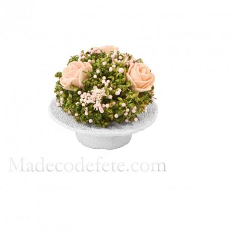 Compo fleurs séchées rosette