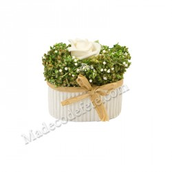 Compo fleurs séchées pot ovale
