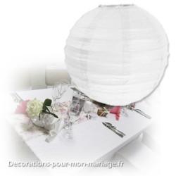 Boule japonaise blanc 50 cm