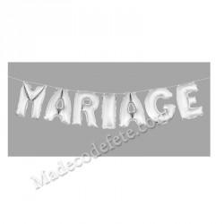 Ballon lettre mariage métallisé