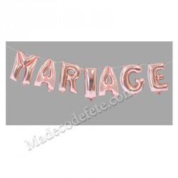 Ballon lettre mariage rose gold