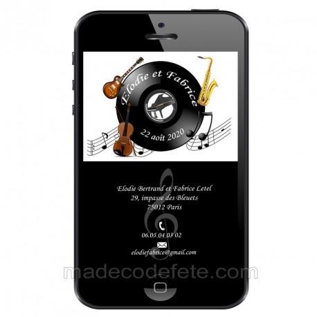 Faire-part numérique musique instruments