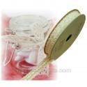 2 m de ruban dentelle déco ivoire