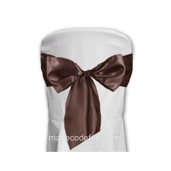 10 noeuds satin chocolat