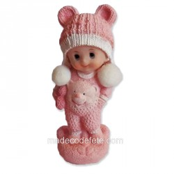 Figurine bébé pyjama rose