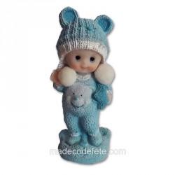 Figurine bébé pyjama bleu