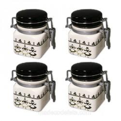 Lot de 4 petits pots bretons
