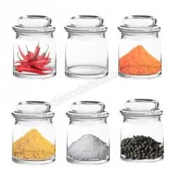 6 pots verre à épices