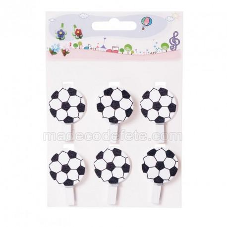 6 pinces ballons de foot