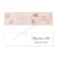 10 étiquettes dragées baby girl