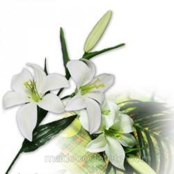 Fleur de lys artificiel blanc