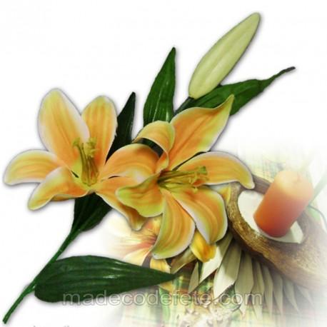 Fleurs de lys artificiel orange