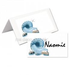 Porte-nom mer nautile (lot de 24)