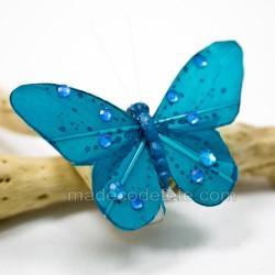 Papillons déco bleus (lot de 4)
