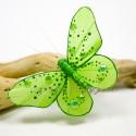 Papillons déco vert (lot de 4)