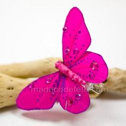 Papillons déco fuchsia (lot de 4)