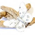 Papillons déco argent (lot de 4)