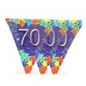 Guirlande fanion 70 ans de 6 mètres