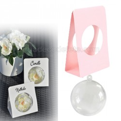 Boule plexi et support rose